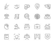 Line Icons Of Law And Lawyer S...