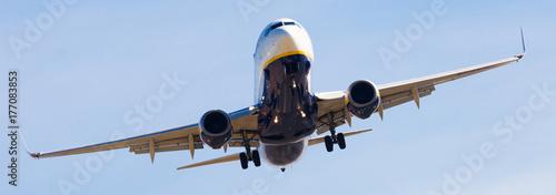 Plakat Lądowanie samolotu Ryanair Airlines