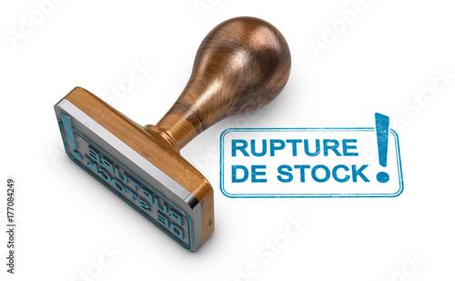 Photo Produit épuisé, Gestion des Stocks et Rupture d'approvisionnement
