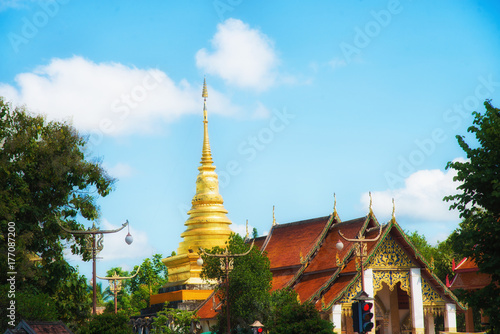 Tuinposter Temple Temple in Nan Thailand.