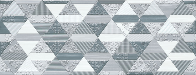 Digital tile design. Idea for ceramic tile and wallpaper