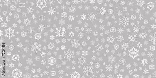 Fototapeta Winter & Christmas background snowflake - vector pattern obraz