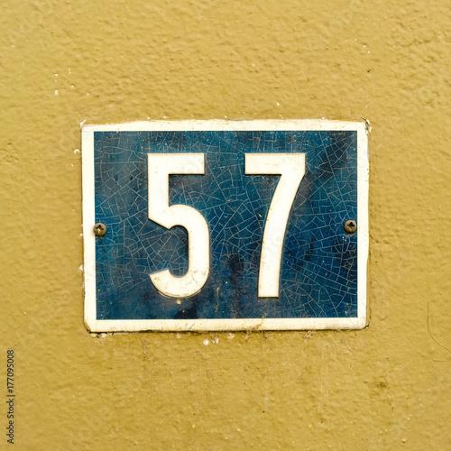 Number 57 Canvas-taulu