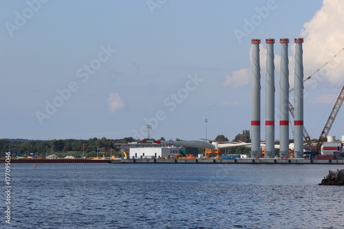 Plakat Port promowy Sassnitz Mukran