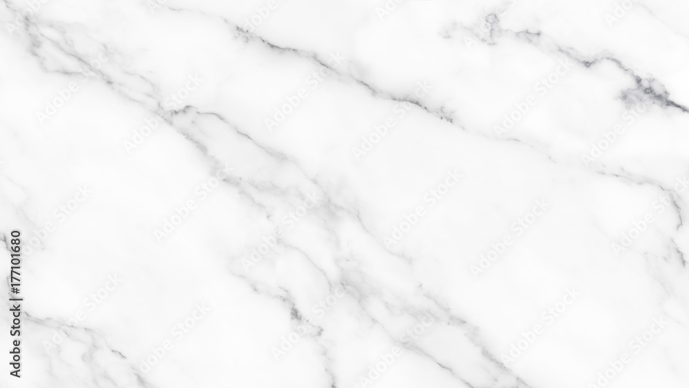 Fototapeta White marble texture with natural pattern for background
