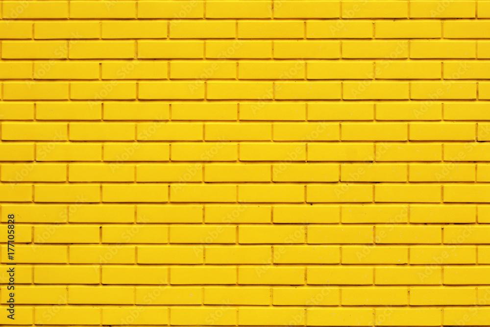 Fototapeta Yellow brick wall background