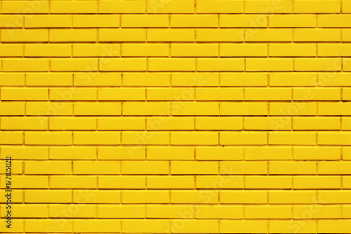 Fototapeta Yellow brick wall background obraz