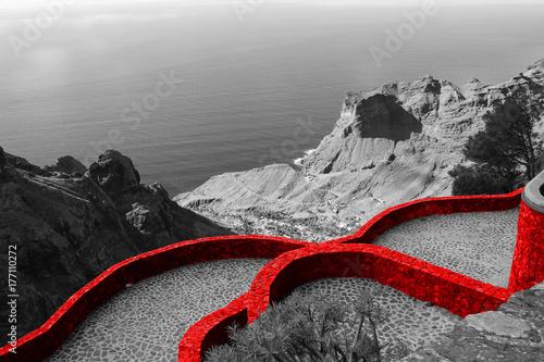 ufortyfikowana-czerwona-sciana-sredniowiecznego
