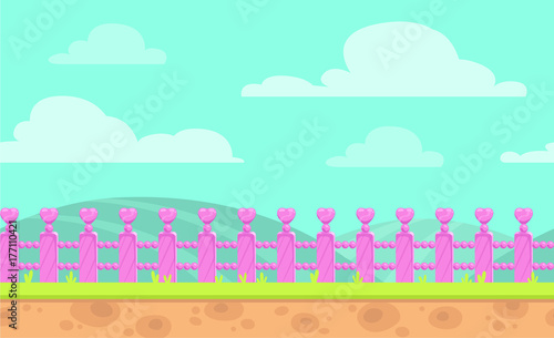 Foto op Canvas Groene koraal Seamless cartoon vector landscape