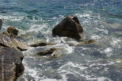Plakat Woda i skały - Morze Kreteńskie
