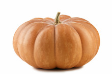 Orange Pumpkin Isolated On A W...