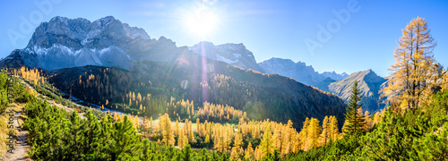 Aluminium Prints Autumn karwendel mountains