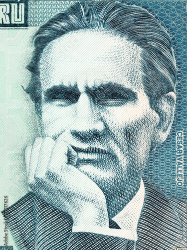 Foto  Cesar Vallejo portrait from Peruvian money