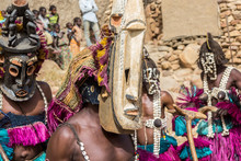 Traditional Wooden Dogon Mask,...