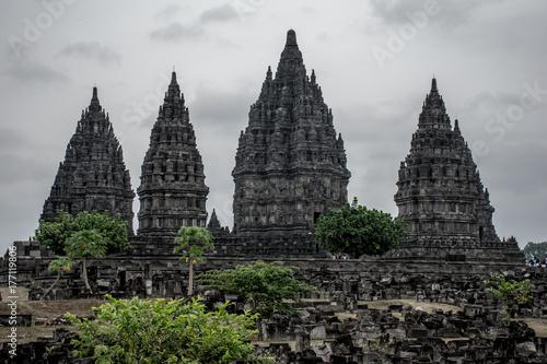 Fototapeta Widok świątyni Prambanan Temple.Pambambanan.