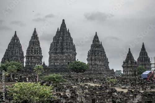 Zdjęcie XXL Widok na świątynię Candi Prambanan.