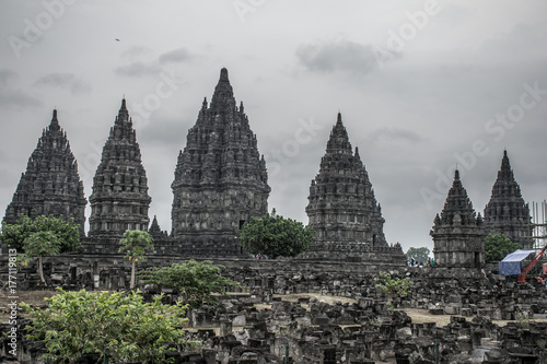 Fototapeta Widok na świątynię Candi Prambanan.