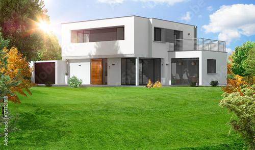 Belle maison moderne d\'architecte à toit plat – kaufen Sie diese ...