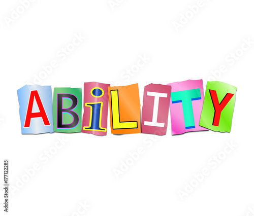 Ability word concept. Canvas Print