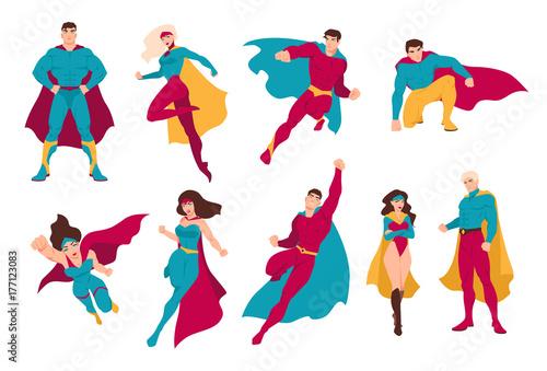 Fotografía  Collection of superheroes
