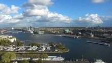 4K Video Footage Of Panorama View Of Amsterdam City, Netherlands