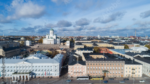 In de dag Luchtfoto View of Helsinki Cathedral, aerial view