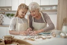 Cheerful Grandchild Learning T...