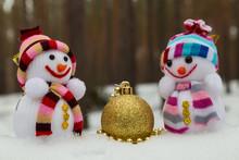 Christmas Toys - Two Snowmen A...