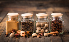 Aromatic Spices In The Jar