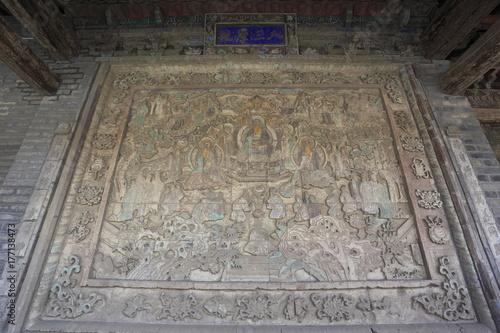 Fotobehang Oude gebouw 張掖大仏寺の大仏殿