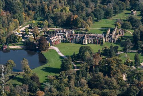 Fotografie, Obraz  Photo aérienne de l'abbaye des Vaux de Cernay dans les Yvelines en France