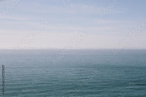 Expansive seascape at dusk
