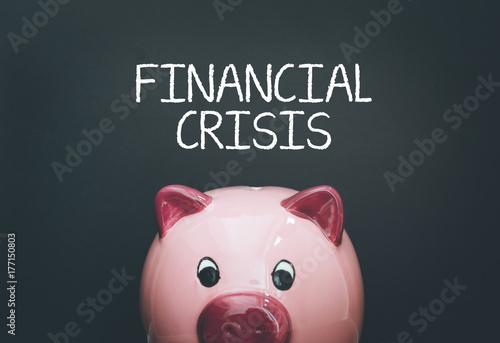 Photo  FINANCIAL CRISIS CONCEPT
