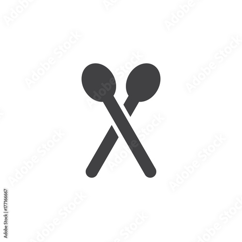 Fotografia, Obraz Tea spoons icon vector, filled flat sign, solid pictogram isolated on white