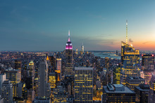 New York City Skyline At The Blue Hour