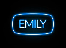 Emily  - Colorful Neon Sign On Brickwall