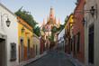 Street in historic center, San Miguel de Allende, Mexico