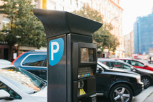 Machine For Paying Parking. Cl...