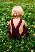 Back View Of Small Child Weari...
