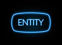 Entity  - Colorful Neon Sign On Brickwall