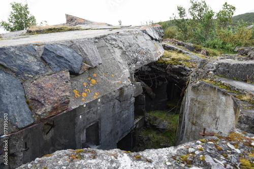 Fotografie, Obraz Norwegen, Norge, Alta, Altafjord, Fjord, Langfjorden, Langenesholmen, Insel, Bun