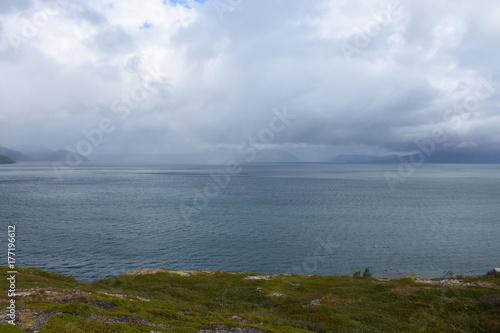 Fotografia Norwegen, Norge, Alta, Altafjord, Fjord, Langfjorden, Langenesholmen, Insel, Bun