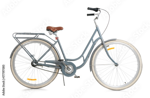Deurstickers Fiets Retro bicycle, isolated on white