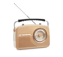 Radio Receiver On White Backgr...