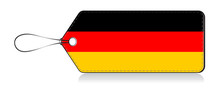 German Flag Leble, Made In Gemany