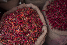 Chilies For Sale In An Asian M...