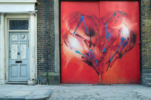 Colourful Red Heart Graffiti  ...