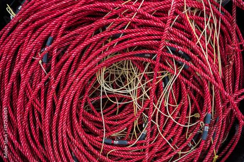 Fotografiet  cordage corde pêche pêcher filet mer océan attraper marin poisson