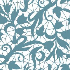 Vintage floral seamless pattern decorative vintage texture swirl background vector illustration