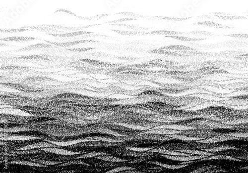 Fototapeta Abstract stippled halftoned waves background obraz